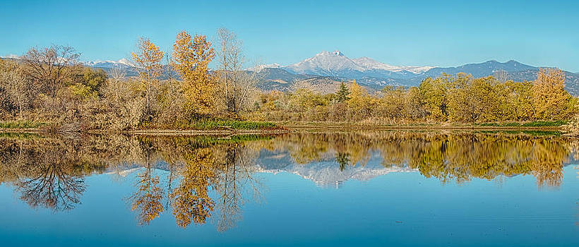 James BO  Insogna - Autumn Peaks Golden Ponds Reflections Panorama