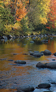 Autumn River Reflections by Bruce Gourley