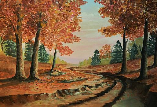 Autumn Road by Barney Hedrick