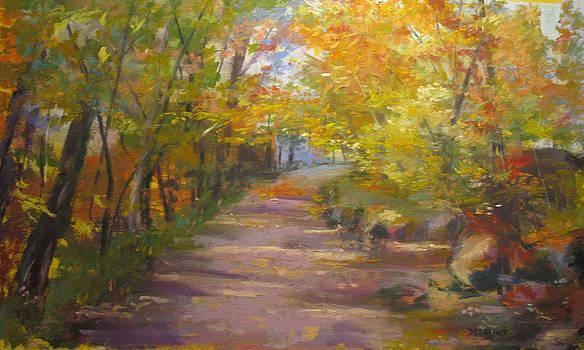 Autumn Road by Linda Dessaint