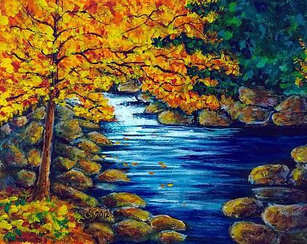 Autumn Rocky River by Catherine Jeffrey