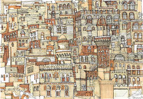 Autumn shaded Arabian cityscape by Adendorff Design