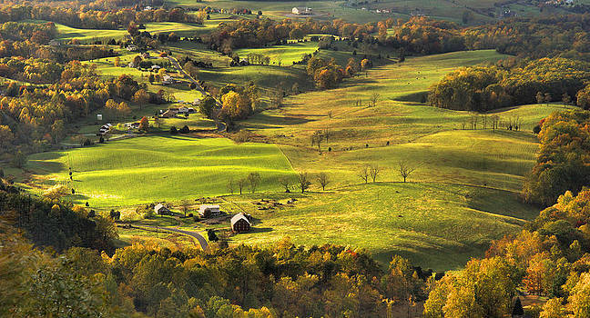 Autumn - Shenandoah Valley by Stephen  Vecchiotti