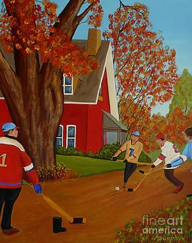 Autumn Street Hockey by Anthony Dunphy