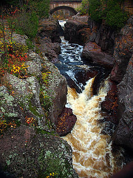 Autumn Temperance River by James Peterson
