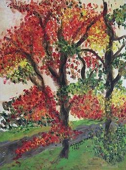 Suzanne  Marie Leclair - Autumn Tree in the Front Yard