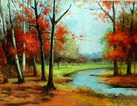 Autumn Trees by Anke Wheeler