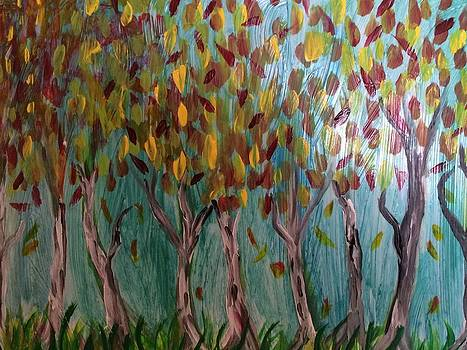Autumn Trees by Phyllis Hollenbeck