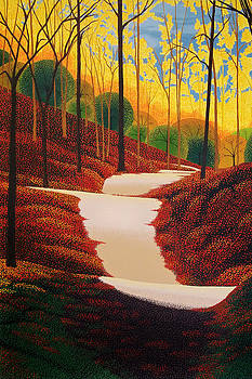Autumn Walk by Michael Wicksted
