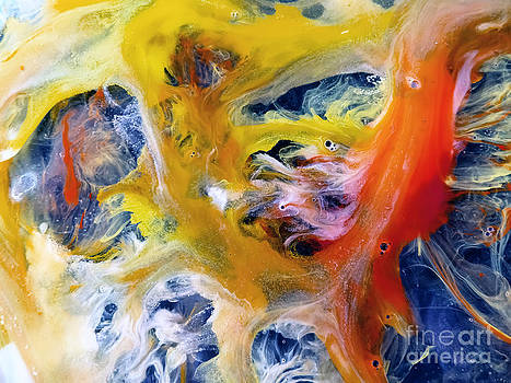 Justyna Jaszke JBJart - Autumn watercolor abstract painting