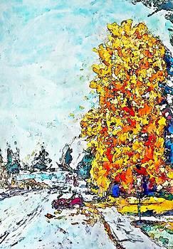 Autumn Wharf Avenue by Stanley  Funk