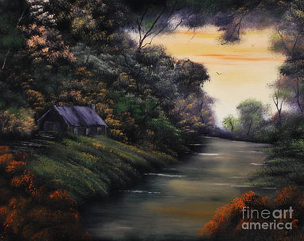 Autumnal Cabin Canopy by Cynthia Adams