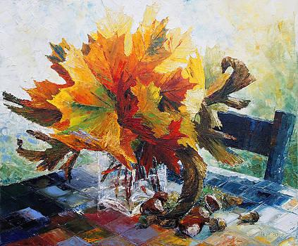 Autumn's Bridal Bouquet by Barbara Pommerenke