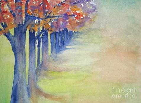 Autumn's Path by Laura Walker