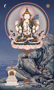Avalokiteshvara and Dharmarakshita by Ben Christian