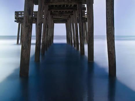 Avalon Fishing Pier Color by Alina Marin-Bliach