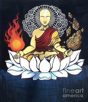 Avatar Aang Buddha Pose by Jin Kai