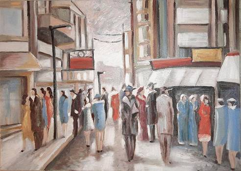 Sold/Avenue by Farid  Fakhriddin 50x70 cm