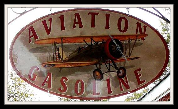 Gail Matthews - Aviation Gasoline Sign