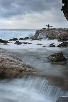 Avoca Surfer by Steve Caldwell