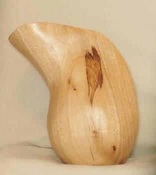 Avocado Stylized Vase by Russell Ellingsworth