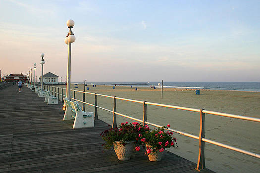 Avon-by-the-Sea Boardwalk by Kelly S Andrews