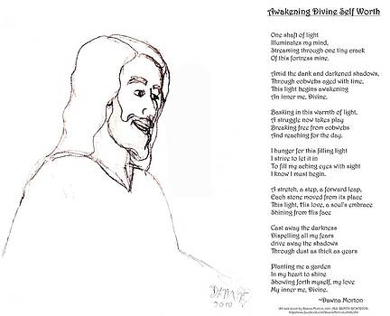 Awakening Divine Self Worth sketch of Jesus 2 by Dawna Morton