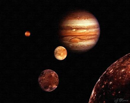 Awesome Print Of the Solar System by J Nance