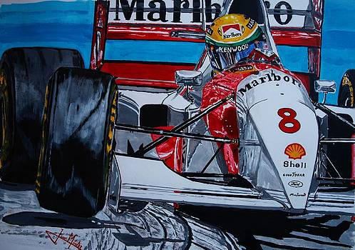 Ayrton Senna Monaco 93 by Juan Mendez