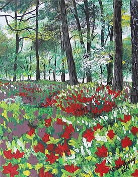 Azalea Gardens by Michelle Young