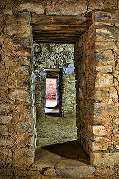 Wes and Dotty Weber - Aztec Ruin Doorway