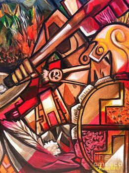 Aztec Warrior Revenge by Ruben Archuleta - Art Gallery