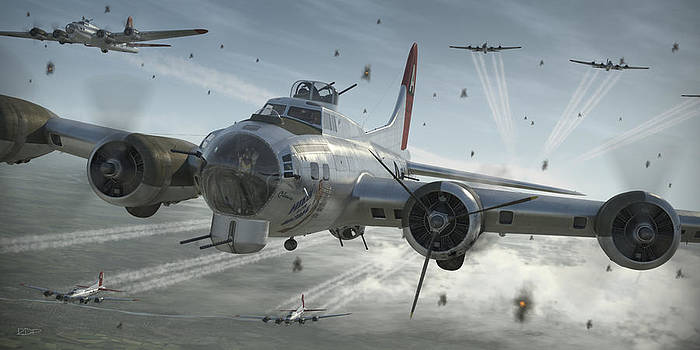 B-17G Hikin' For Home by Robert Perry