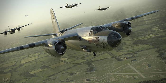 B-26 Feudin Wagin by Robert Perry