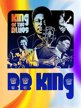 B. B. King Poster Art by Robert Korhonen