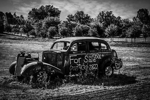 Bruce Bottomley - B/W Old Car