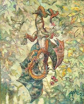 Baby Dragon Eating Cherries by Sheila Tibbs