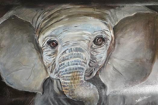 Baby elephant by Sadhna Tiwari