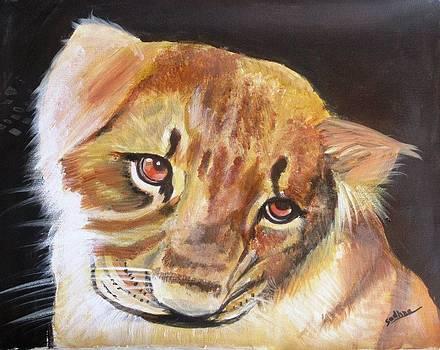 Baby Lion by Sadhna Tiwari