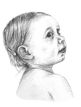 Baby Portrait by David Joffe