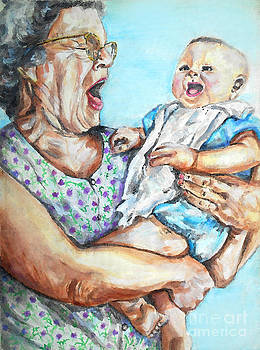 Baby Puts Grandma To Sleep by Melanie Alcantara Correia
