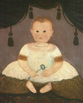 Baby With Rattle  c1840 by Artist Unknown