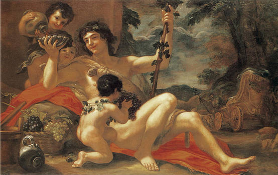 Baldassarre Franceschini - Bacchus wiht attendant putti