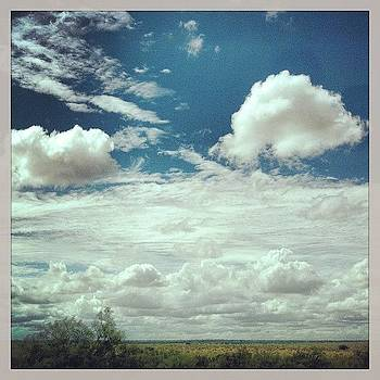 Back In #texas #field #sky #clouds by Greta Olivas
