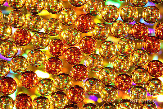 Background Glowing Golden Balls by Alexandr  Malyshev