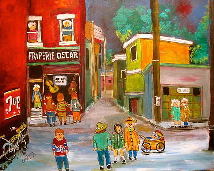 Backlanes Montreal by Michael Litvack