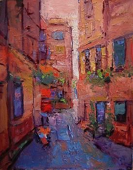 Backstreet in Chania II by R W Goetting