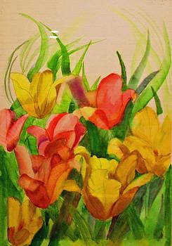 Backyard Lilies by Dina Jacobs