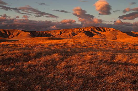 Badlands Sunset by Steve Burns