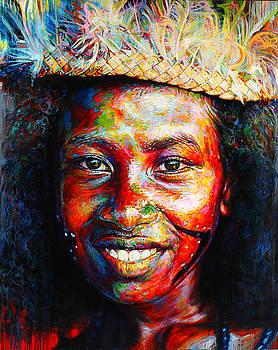 BagaBaga Canoe Girl by Stephen Bennett